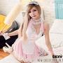 性感女僕裝COSPLAY服裝 大尺碼角色扮演服粉色XL號*流行E線A461