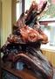飛天達摩 達摩 紅豆杉 木雕