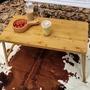 【May Shop】原木色摺疊木桌 電腦桌 露營桌(大款)