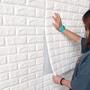 【現貨❥特惠價】3D立體壁貼 牆壁貼裝飾磚紋防撞壁貼 防水防汙牆貼 壁癌貼紙 臥室自粘自黏牆紙 環保無異味