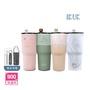 【IKUK 艾可】陶瓷保溫杯900ml珍奶杯(一體成型陶瓷內膽 無焊接縫 不掉漆)