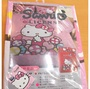 Hello Kitty KT雙人被單被套6x7尺-彩虹糖樂園(紅色) 台灣製造