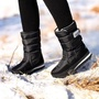 雪靴 冬季熱銷平底保暖防滑防水百搭輕便雪地靴男靴情侶款女靴棉鞋