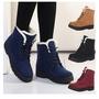 冬季地靴女保暖學生短筒靴平跟韓版棉鞋 情侶雪靴 男士雪靴 保暖 防滑 防水 雪地靴 中筒靴 棉鞋女 雨靴 大尺碼雪靴