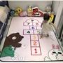 免運✔兒童遊戲墊爬行地墊 室內地毯 跳格子地墊 跳房子 絨毛地墊