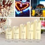 Lucky-G Simulate LED Electronic Candle Light Cylindrical Paraffin Night Light Wedding Party Yard Decoration
