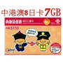 <寶媽雜貨小舖>中港8日7GB流量,中國大陸上網卡 免翻牆可上任何網 可熱點分享 無語音功能