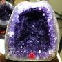 烏拉圭、頂級紫水晶洞,正土型、漂亮瑪瑙邊、原礦