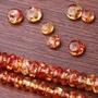 仿花珀仿琥珀diy手串配件算盤珠隔珠配珠手串佛珠念珠配飾品