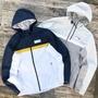 【Sharkhead】現貨 New Balance Jacket 風衣 外套 連帽外套 藍白 深藍 灰 灰白 NB 男