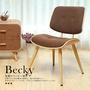 【H&D】Becky貝奇和風木作布單椅/餐椅/工作椅 (三色可選)