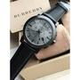 Burberry 戰馬男士手錶 三眼計時日曆牛皮錶帶商務休閒男錶BU9364