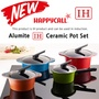 Happycall IH Alumite Ceramic Pot 5 Set / cooking pots wok / inudction