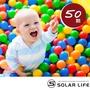 【索樂生活】兒童球池球屋遊戲用空心塑膠彩球台灣製7CM-50顆(海洋球 波波球 安全遊戲彩球 附收納袋)