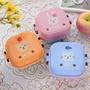 日式迷你卡通塑料小飯盒兒童可愛雙層便當盒可微波餐盒便攜水果盒