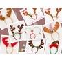 漫迷 現貨 爆款 聖誕鹿角頭箍 髮箍 鹿角絲絨 聖誕髮箍 兒童成人節日裝扮飾品 2個裝