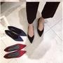 尖頭平底鞋 氣質淺口單鞋 OL職業平底鞋