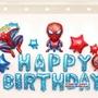 兒童 生日派對 DIY卡通氣球佈置 生日快樂