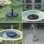 《嫚嫚家》太陽能水汞花園微型漂浮噴泉太陽能噴水器流水室外噴泉太陽能噴泉