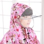【雨季必備 兒童雨披】加厚耐磨兒童雨衣男女學生帶書包位設計 兩件式雨衣 雨衣雨褲 摩托車雨衣