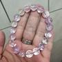 收藏品現貨精品高級冰透紫鋰輝單圈手鏈手珠手串,約10mm,32.7克,晶體通透,顏色漂亮,超顯膚色。