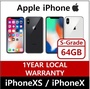 iPhone XS 64GB / iPhone X 64GB 128GB Used Phone Factory-Unlocked very good condition
