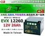 ☼ 台中電池達人 ►CSB神戶電池 深循環電瓶 EVX-12260 12V-26AH 電動四輪老人代步車 電動機車電池