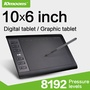 10moons 10*6 Inch Graphic Tablet 8192 Levels Digital Tablets Drawing Tablet No need charge Pen Tablet