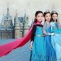 節日★冰雪奇緣公主裙艾莎女童連衣裙正版愛莎洋氣秋冬裝萬圣節兒童服