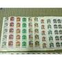 0.1元早期郵票,1大全張100枚郵票