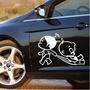 A0143 小屁孩車身貼 車身貼紙 機車貼 自行車貼 拉花 葉子板 後窗 引擎蓋 遮刮痕 沂軒精品