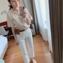 轉賣-正韓貨chuchic超美版型白色牛仔褲M