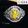 【台北周先生】天然黃色鑽石 1克拉 濃郁Fancy Yellow 顏色均勻even 氣質美戒 火光爆閃 送GIA證