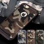 (送保護貼) 迷彩iPhone8 iX  plus i8 i7 i5 I6 SE 手機套手機殼防摔矽膠套保護套殼