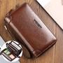 男士皮革手拿包錢包長款大號名片夾錢包