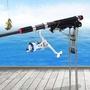 【精選釣具】加強版 自動起竿器 自動魚竿支架 自動揚竿器 三彈簧 夜釣適用 竿架海杆地插炮台架杆  釣竿