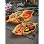 ❋ 現貨速運 居家裝飾 實木果盤 花生形盤 點心托餐盤 菜盤 橡木制樹葉盤 圓形水果盤 四方餐盤