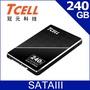 TCELL 冠元- TT550 240GB 2.5吋 SATAIII SSD固態硬碟(英倫紳士風)