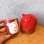 【杯世界】限量星巴克2019豬年生肖紅色小豬陶瓷馬克喝水杯儲蓄存錢罐