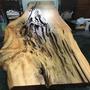 台灣紅檜 老件 蓮孔 大桌板308x106x7.5