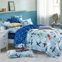 [飛機樂園] 200織紗 純棉床包 單人床包 雙人床包 雙人加大床包 枕套 台灣製