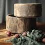 超讚shangyu05❤復古做舊實木木盆大木碗圓形民宿裝飾拙樸自然系手工木制品