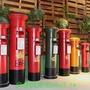 現貨 重磅 \n復古英國倫敦紅色郵筒信箱擺件店鋪櫥窗擺設戶外大型道具裝飾品