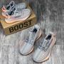 愛迪達Adidas Yeezy Boost 350v2 三大洲限定 椰子350 仿真爆組合底 親子運動休閑跑鞋