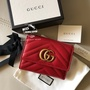 Gucci 皮夾 GG Marmont 馬夢短夾 超級美💖💖正紅色 現貨+預購