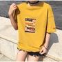 九成新 T-Shirt 韓版復古黃