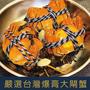 嚴選台灣鮮甜無毒B級大閘蟹-實重4.1-5兩 超飽滿蝦膏  活蟹直接送到家 $320/隻起 10入組