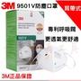 一箱 3M口罩n95口罩9501V 9502V防PM2.5霧霾 不起霧 冷流呼吸閥 耳帶式