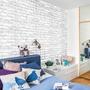 現貨!卡通現代白磚牆貼 客廳臥室櫥櫃餐廳背景墻貼 寢室裝扮帶膠牆紙貼 房間裝飾 居家裝飾SA-1022