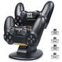 【iplay】Sony PS4副廠 雙手把充電底座 可外接USB鍵盤滑鼠 方便快速 支援PS4 Pro PS4 Slim 主機無線握把